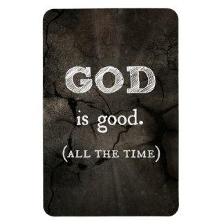 Dios es buen… todo el tiempo cristiano de encargo imán de vinilo