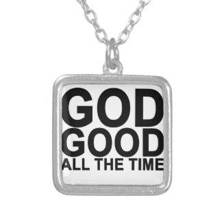 Dios es buen todo el tiempo .png collar plateado