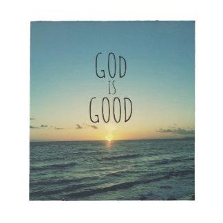 Dios es buena cita blocs de notas