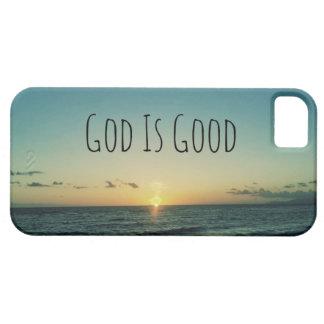 Dios es buena cita iPhone 5 cobertura