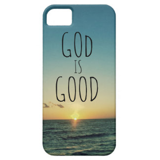 Dios es buena cita iPhone 5 cárcasa