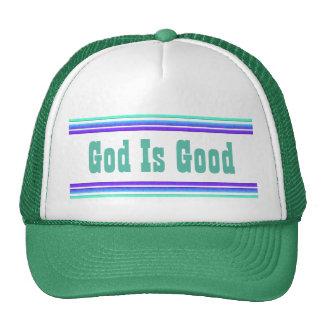 Dios es bueno gorras de camionero