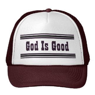 Dios es bueno gorro