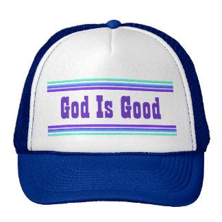 Dios es bueno gorros
