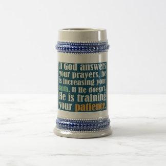 Dios es bueno jarra de cerveza