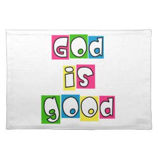 Dios es bueno mantel