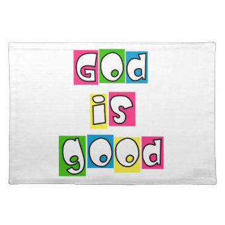Dios es bueno manteles individuales