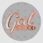 Dios es buenos pegatinas pegatina redonda