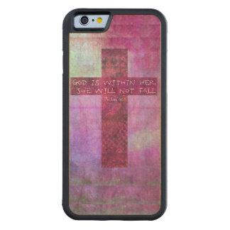 Dios es dentro de ella 46:5 del salmo del verso de funda de iPhone 6 bumper arce