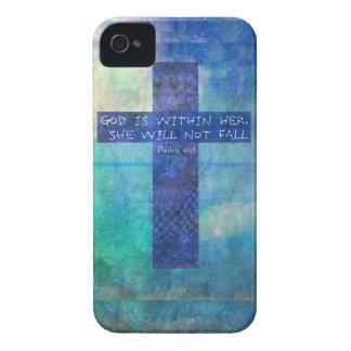 Dios es dentro de ella 46:5 del salmo del verso de funda para iPhone 4 de Case-Mate