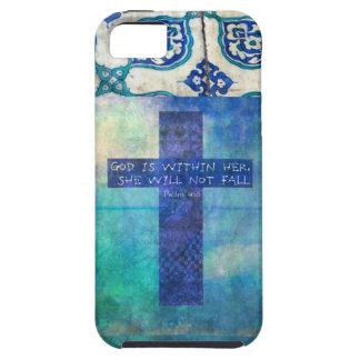 Dios es dentro de ella 46:5 del salmo del verso de funda para iPhone SE/5/5s