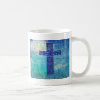 Dios es dentro de ella 46:5 del salmo del verso de taza básica blanca