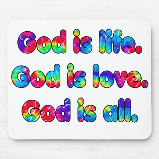 Dios es dios de la vida es dios del amor es todo alfombrillas de ratones