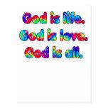 Dios es dios de la vida es dios del amor es todo postal