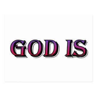 Dios es el decir cristiano postales
