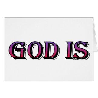 Dios es el decir cristiano tarjeton