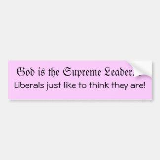 Dios es el líder pegatina de parachoque