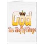 Dios es el rey de reyes tarjetas