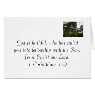 Dios es fiel - nota del amor tarjeta pequeña