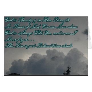 Dios es fuerza tarjeta de felicitación