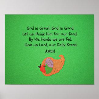 Dios es grande, dios es bueno… posters