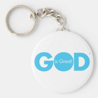 ¡Dios es grande! Llavero Redondo Tipo Pin
