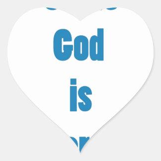 Dios es hee pegatina en forma de corazón