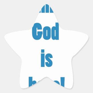 Dios es hee pegatina en forma de estrella