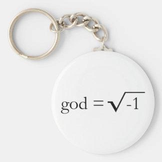 Dios es imaginario llavero redondo tipo pin
