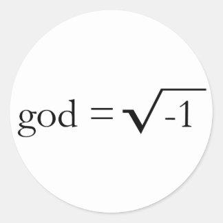 Dios es imaginario pegatina redonda