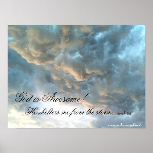 Dios es impresión impresionante posters