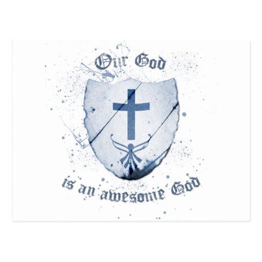 Dios es impresionante (la versión 2) tarjetas postales
