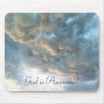 Dios es impresionante - las nubes Mousepad Alfombrillas De Raton