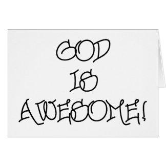 Dios es impresionante tarjeta de felicitación
