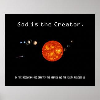 Dios es la Sistema Solar del creador - poster Póster