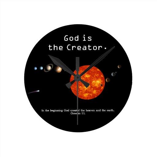 Dios es la Sistema Solar del creador - reloj de pa