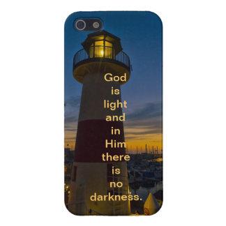 Dios es ligero - faro iPhone 5 protector