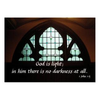 Dios es luz tarjetas personales