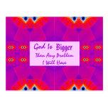 Dios es más grande que cualquier problema que teng tarjeta postal