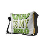 Dios es mi héroe bolsa messenger