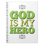 Dios es mi héroe libros de apuntes con espiral