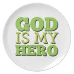 Dios es mi héroe platos de comidas