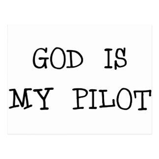 Dios es mi piloto tarjetas postales
