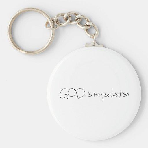 DIOS es mi salvación Llavero Personalizado