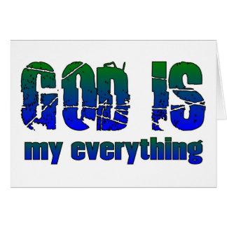 Dios es mi todo el decir cristiano felicitación