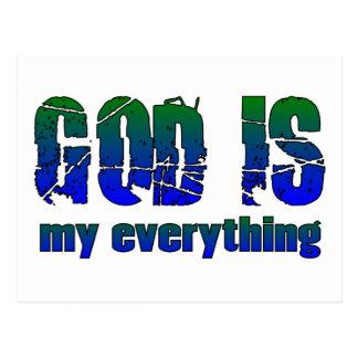 Dios es mi todo el decir cristiano tarjeta postal