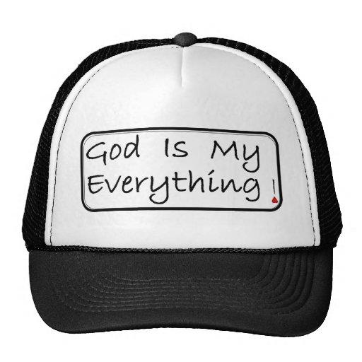 ¡Dios es mi todo! Gorros Bordados