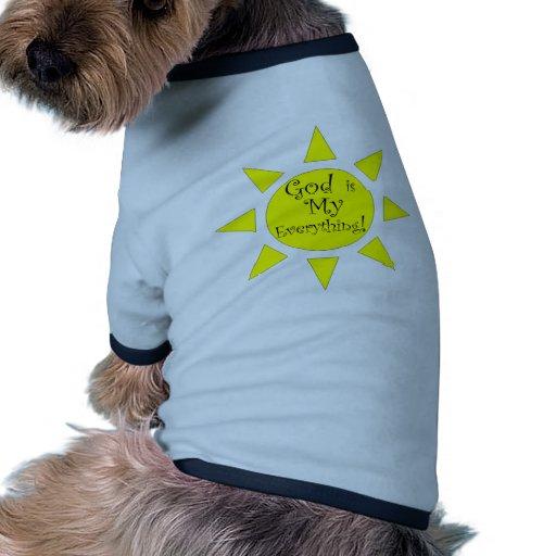 Dios es mi todo sol camiseta con mangas para perro