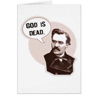 Dios es muerto (Nietzsche) Tarjeta De Felicitación