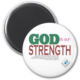 DIOS es nuestra fuerza Iman Para Frigorífico